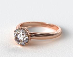 14K Rose Gold Modern Tulip Diamond Engagement Ring