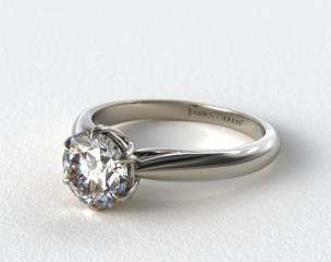 18K White Gold Modern Tulip Diamond Engagement Ring
