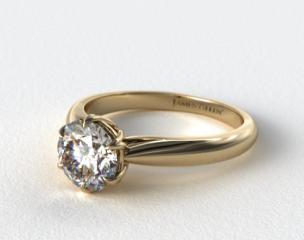 14K Yellow Gold Modern Tulip Diamond Engagement Ring