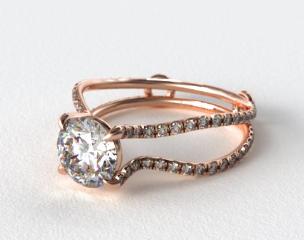 14K Rose Gold ZE122 by Danhov Designer Engagement Ring
