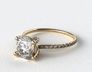 18k Yellow Gold Twist Pave ZE102 by Danhov Designer Engagement Ring