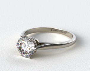 Platinum Six Prong Royal Crown Engagement Ring