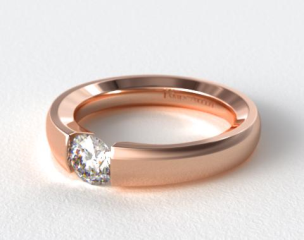 14K Rose Gold Contoured Tension V121 by Danhov Designer Engagement Ring