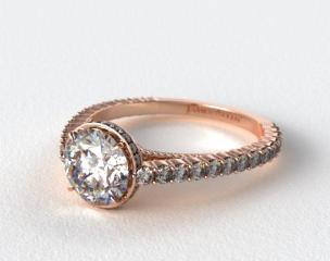 14K Rose Gold Pave Basket XE110 by Danhov Designer Engagement Ring