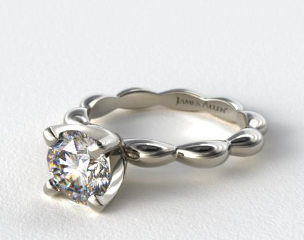14K White Gold Seeds of Nature Engagement Ring