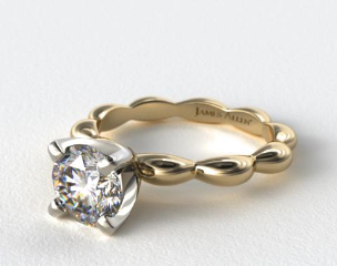 18K Yellow Gold Seeds of Nature Engagement Ring