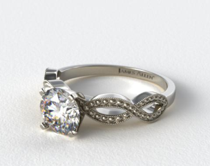 Platinum Vintage Infinity Engagement Ring