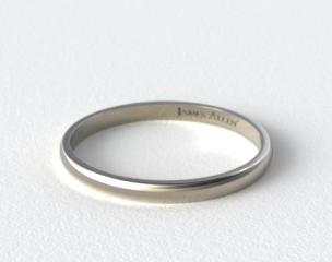 Platinum 2.5mm Traditional Comfort Fit Wedding Ring