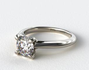18k White Gold Double Bevel Knife Edge Engagement Ring
