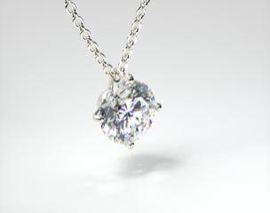 Platinum 0.25ct H-I, SI Four Prong Wire Basket Pendant Setting