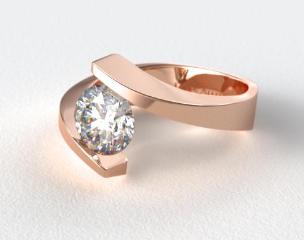 14K Rose Gold Spiral Tension Set Engagement Ring