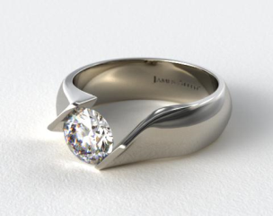 Platinum Contoured Twist Tension Set Engagement Ring