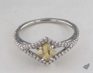 "Platinum 0.95ct diamond ""Victorian ring"" featuring 0.35ctw in MicroPave diamonds"