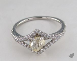 "Platinum 1.10ct diamond ""Victorian ring"" featuring 0.35ctw in MicroPave diamonds"
