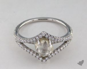"Platinum 1.58ct diamond ""Victorian ring"" featuring 0.44ctw in MicroPave diamonds"