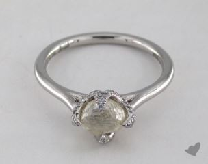 "Platinum 1.53ct diamond ""Signature ring"" featuring 0.17ctw in MicroPave diamonds"