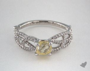 "Platinum 0.85ct diamond ""Vine ring"" featuring 0.28ctw in MicroPave diamonds"