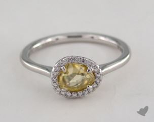 "18K White Gold 0.81ct diamond ""Grace ring"" featuring 0.09ctw in MicroPave diamonds"