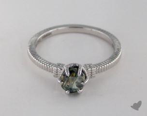 "18K White Gold 0.91ct diamond ""Nouveau ring"" featuring 0.00ctw in MicroPave diamonds"