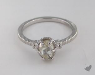 "18K White Gold 1.34ct diamond ""Nouveau ring"" featuring 0.00ctw in MicroPave diamonds"