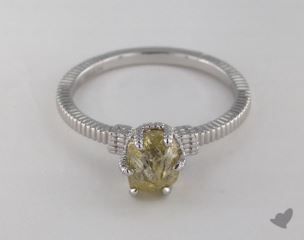 "18K White Gold 1.74ct diamond ""Nouveau ring"" featuring 0.00ctw in MicroPave diamonds"