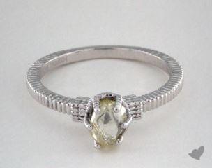 "18K White Gold 0.84ct diamond ""Nouveau ring"" featuring 0.00ctw in MicroPave diamonds"