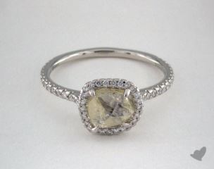 "Platinum 1.83ct diamond ""Classic ring"" featuring 0.37ctw in MicroPave diamonds"