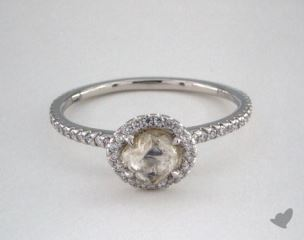 "Platinum 0.81ct diamond ""Classic ring"" featuring 0.32ctw in MicroPave diamonds"