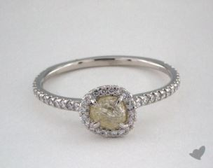 "Platinum 0.60ct diamond ""Classic ring"" featuring 0.31ctw in MicroPave diamonds"