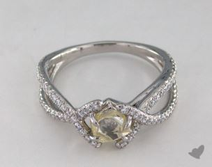 "Platinum 0.92ct diamond ""Unity ring"" featuring 0.36ctw in MicroPave diamonds"