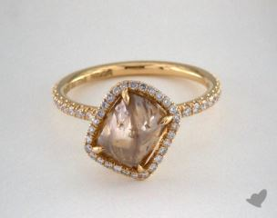 "18K Yellow Gold 3.65ct diamond ""Covet ring"" featuring 0.33ctw in MicroPave diamonds"
