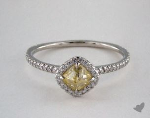 "Platinum 0.75ct diamond ""Classic ring"" featuring 0.26ctw in MicroPave diamonds"