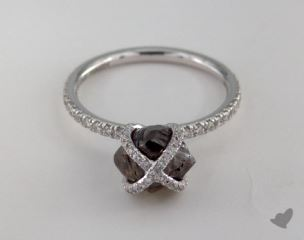 "18K White Gold 2.98ct diamond ""Embrace ring"" featuring 0.39ctw in MicroPave diamonds"