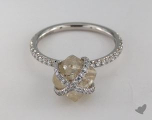 "Platinum 3.75ct diamond ""Embrace ring"" featuring 0.47ctw in MicroPave diamonds"