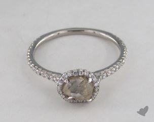 "Platinum 0.87ct diamond ""Classic ring"" featuring 0.28ctw in MicroPave diamonds"