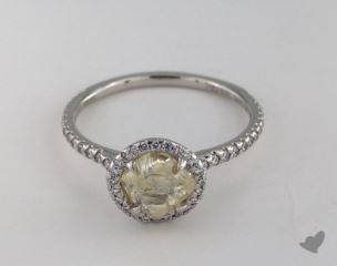 "Platinum 1.65ct diamond ""Classic ring"" featuring 0.38ctw in MicroPave diamonds"