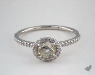 "Platinum 0.75ct diamond ""Classic ring"" featuring 0.30ctw in MicroPave diamonds"