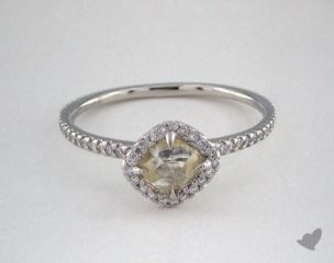 "Platinum 0.84ct diamond ""Classic ring"" featuring 0.26ctw in MicroPave diamonds"