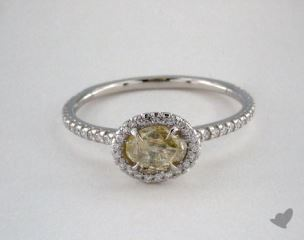 "Platinum 0.74ct diamond ""Classic ring"" featuring 0.24ctw in MicroPave diamonds"