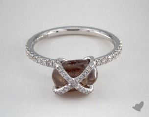 "18K White Gold 3.03ct diamond ""Embrace ring"" featuring 0.39ctw in MicroPave diamonds"