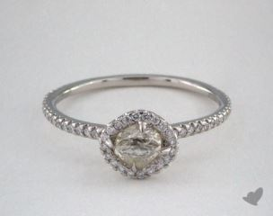 "Platinum 0.63ct diamond ""Classic ring"" featuring 0.26ctw in MicroPave diamonds"