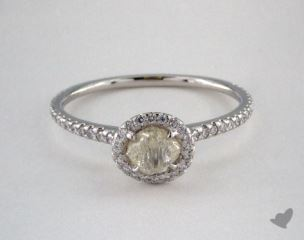 "Platinum 0.74ct diamond ""Classic ring"" featuring 0.29ctw in MicroPave diamonds"
