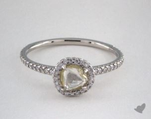 "Platinum 0.66ct diamond ""Classic ring"" featuring 0.24ctw in MicroPave diamonds"