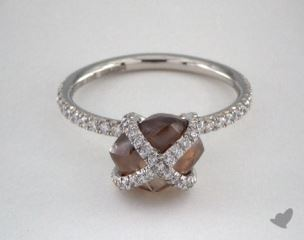 "Platinum 3.37ct diamond ""Embrace ring"" featuring 0.43ctw in MicroPave diamonds"