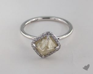 "18K White Gold 2.01ct diamond ""Covet ring"" featuring 0.08ctw in MicroPave diamonds"