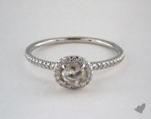 "Platinum 0.68ct diamond ""Classic ring"" featuring 0.25ctw in MicroPave diamonds"