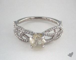 "Platinum 1.26ct diamond ""Vine ring"" featuring 0.28ctw in MicroPave diamonds"