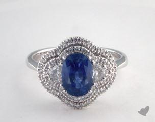 18K White Gold - 1.80ct  - Blue