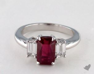 Platinum - 2.34ct  - Red