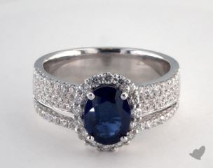 18K White Gold - 1.55ct  - Blue